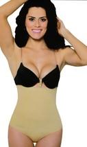BRAND NEW WOMEN'S FULL BODY SLIMMING SHAPEWEAR HI-WAIST THONG BEIGE #8052