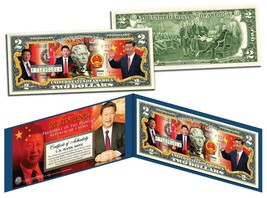 XI JINPING * President of China * Colorized $2 Bill U.S. Genuine Legal T... - $13.81