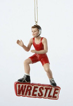 KURT S ADLER RESIN WRESTLE BOY WRESTLER WRESTLING SPORTS CHRISTMAS TREE ... - $10.88