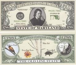 50 Maryland MD State Quarter Novelty Money Bills Lot - $11.87