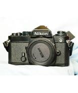 Nikon FE 35mm Professional SLR Film Camera BLACK   -TESTED - $125.00