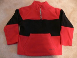Childrens Place Boys Red Black Fleece 1/4 zip up Pullover Jacket Size S 5-6  - $7.99