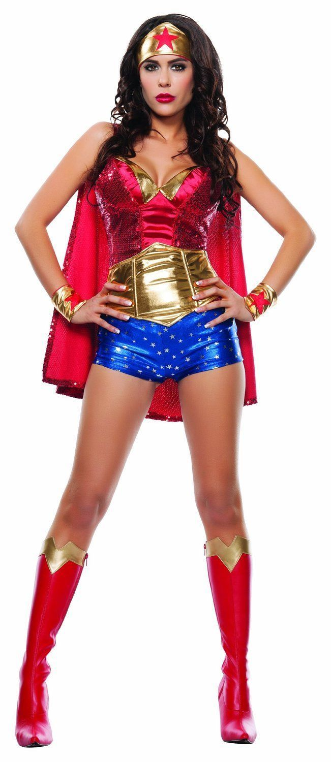Primary image for Starline Wonder Lady Woman Adult Comic Book Super Hero Halloween Costume S4560