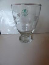 Vintage 1990s Eamon Glass Shamrocks Dublin Ireland Water Goblet or Vase ... - $19.80