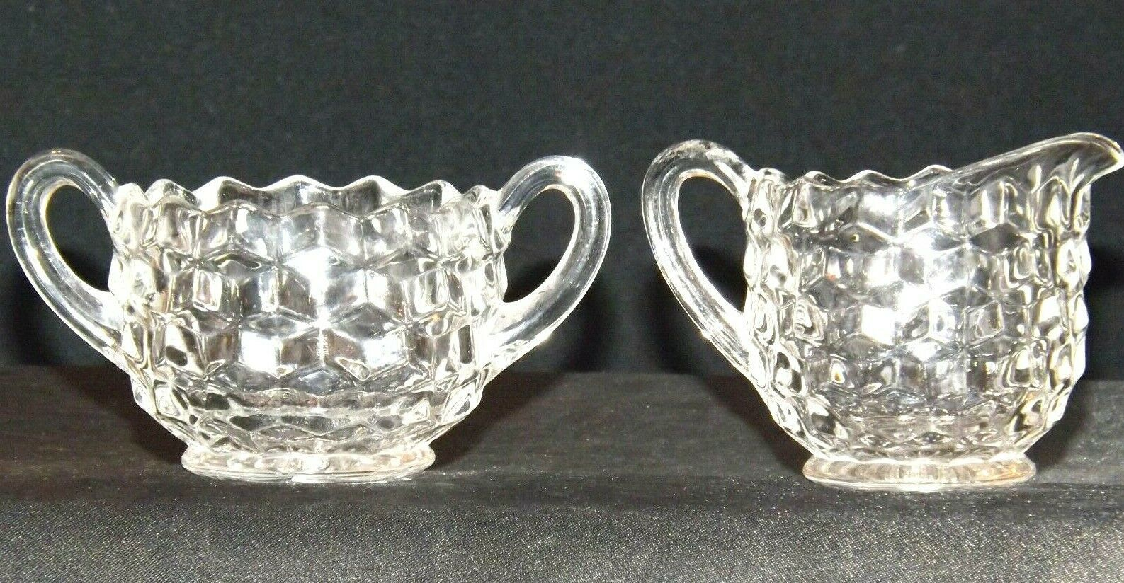 Waterford Cream and Sugar USA Pair AA19-LD11931 Vintage