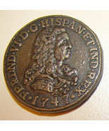 1747 SPANISH GOLD DOUBLOON Restrike Copper Coin Medal Charm Medallion - $14.99