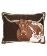 Texas Longhorn Long Horn Steer Hook Lumbar Pillow Western Decor - $69.27