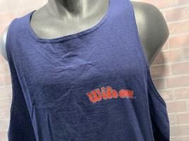 Vintage Wilson Marca Azul Marino Camiseta de Tirantes para Hombres Talla XL - $18.70
