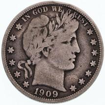 1909 50C Barber Half Dollar in Fine Condition All Natural Color Complete... - $63.80