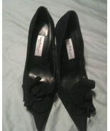 Sacha London Pointy Toe Black Velvet Heels Sz 5.5 - $21.88