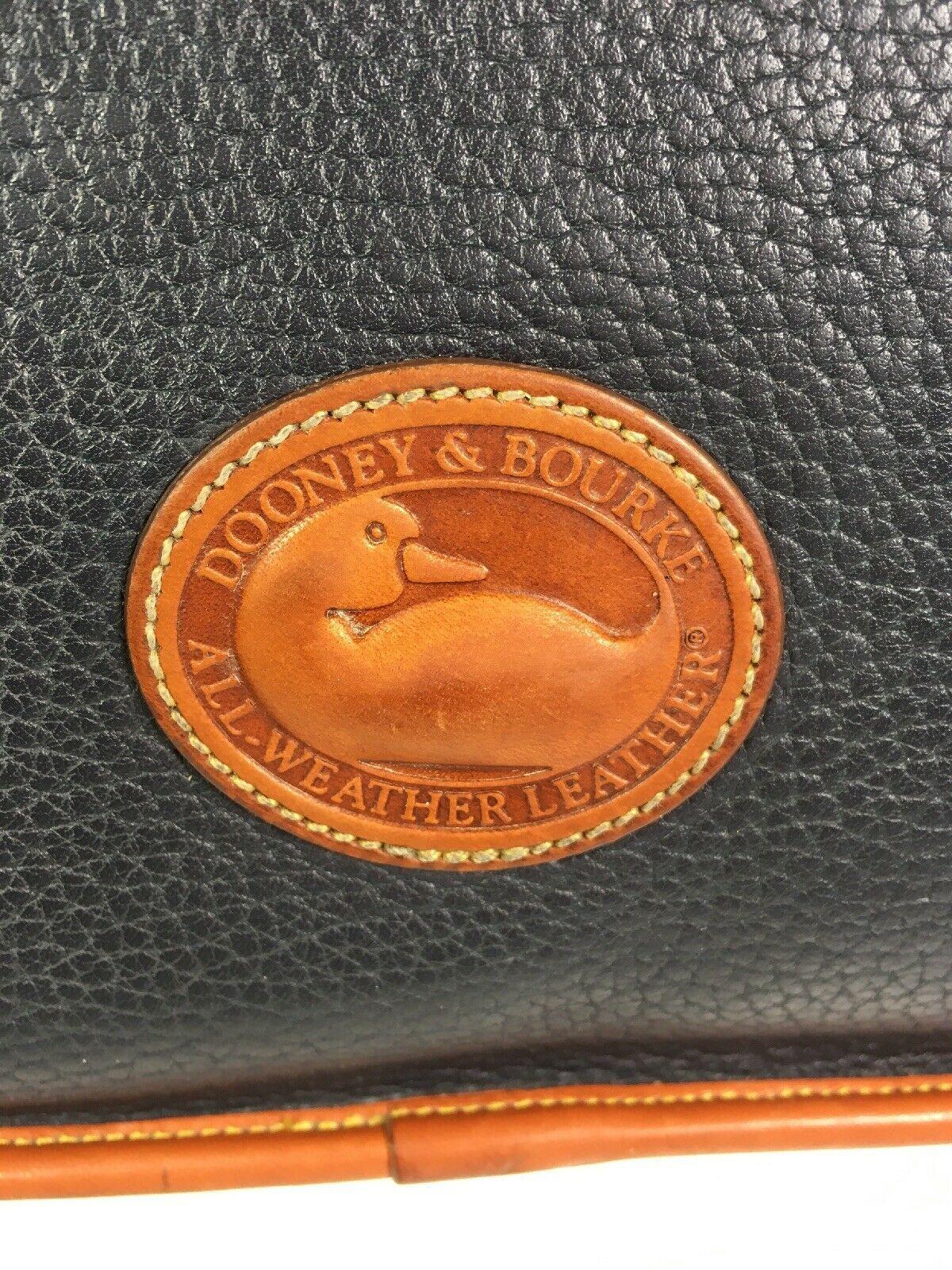 Dooney & Bourke Vintage Green Pebbled Leather with Brown Trim Flap Shoulder Bag