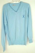 Vtg 70s Santa Maria Country Club Pickering V Neck Soft Blue Sweater Men'... - $39.55