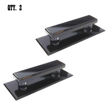 Black Acrylic Large Stick-On Mirror Pulls - Pack of 2 - $31.95
