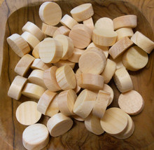 25 Pine Side Grain Flat Head Tapered Solid Wood Dowel Furniture Screw Pl... - $6.90
