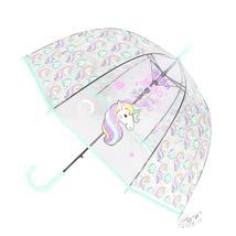 Kids Unicorn Umbrella Cute Transparent Umbrellas Apollo Semi Automatic C... - $17.99