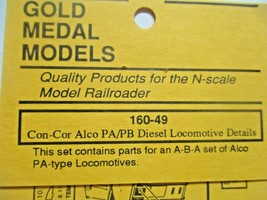 Gold Medal Models # 160-49 Con-Cor Alco PA/PDB Diesel Loco Detail Parts N-Scale image 2