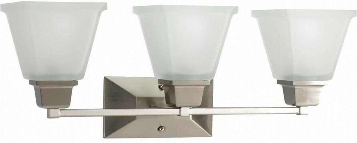 Bathroom Vanity Lighting 3-Light Glass Shades Damp Rated