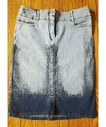 BCBG MAX AZRIA Jeans Size 4 Pencil Denim distressed skirt  Vintage EUC S... - $10.40