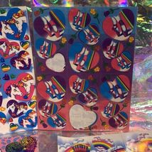 Incomplete Vintage Lisa Frank Sticker Sheets Hearts & Unicorns Ballet Cheetah ! image 5