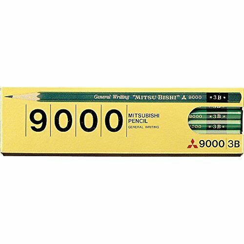 K90003B Mitsubishi office pencil 9000 3B 12 pieces