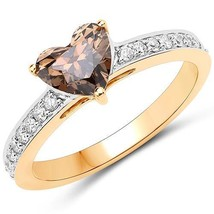 Chocolate diamond heart solitaire ring 18k qj 3 thumb200