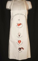 NEW Apron Baking France Kitchen Cooking French Ivory Marie Martine - $10.99
