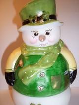 Fenton Glass Snowman Fairy Light Lamp Luck of the Irish St Pat's LE GSE #4 of 14 - $222.61