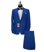 Men Royal Blue Two Piece Suits Designer Dinner Party Wear Wedding Suits - $149.99
