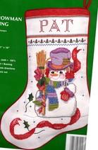 Needle Treasures Sam the Snowman Snow Christmas Cross Stitch Stocking Ki... - $42.95