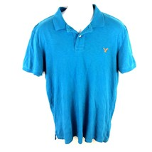 American Eagle Mens Polo Shirt Blue L - $341,68 MXN