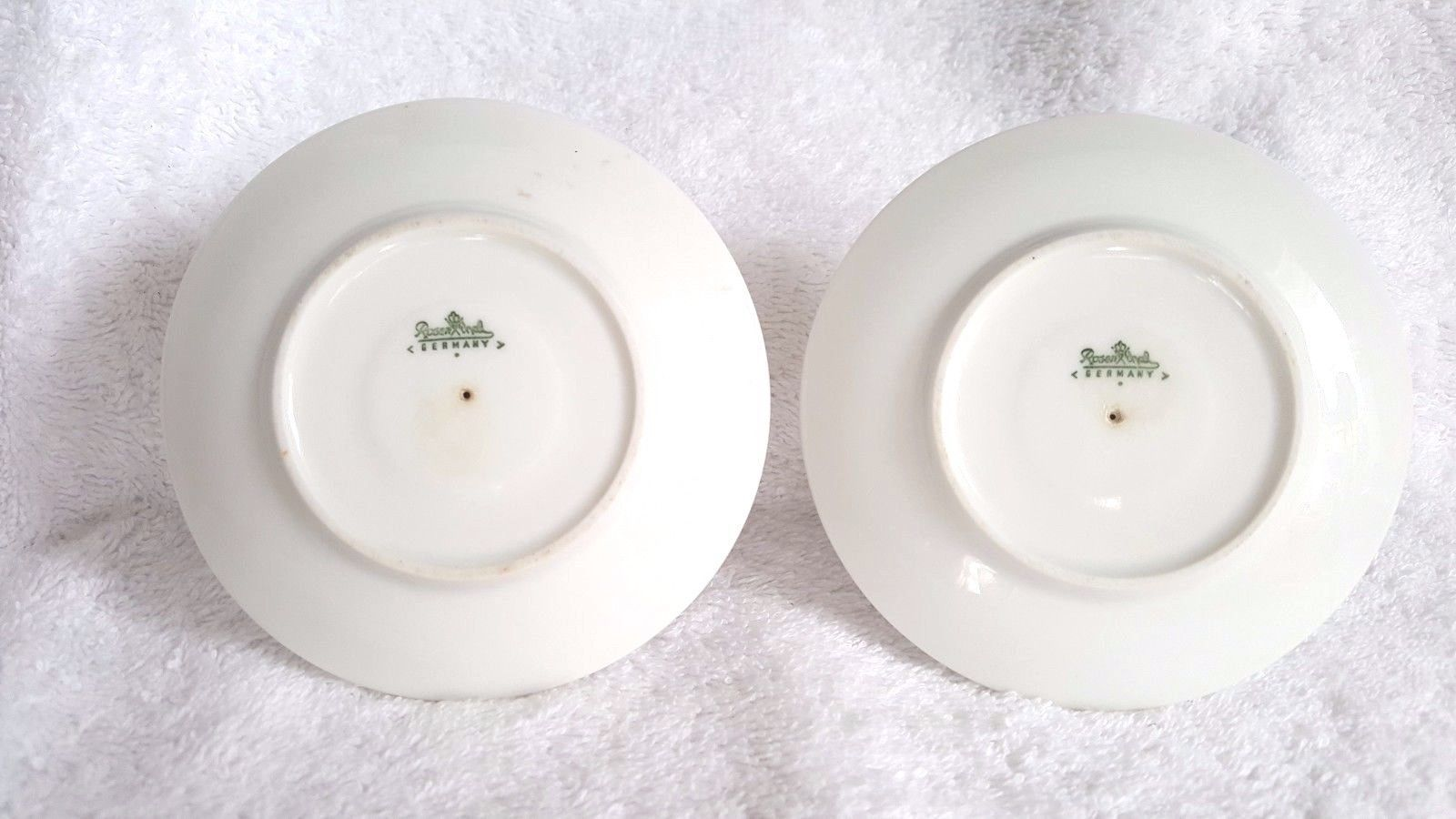 Two Rosenthal Footed Egg Cups Germany White