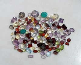 Over 100 Carats of Natural Gem Mix Loose Faceted  Parcel Lot - $18.69