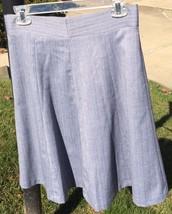 Women's Sz 6 Covington Gray White Flare Career Skirt Silver Sparkle Herringbone - $9.50