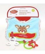 Rudolph Plush BABY'S 1ST CHRISTMAS ACTIVITY BIB, Rudolph - $7.81