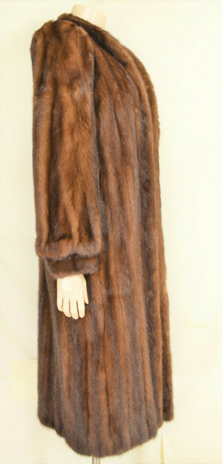 France Olivia mink fur coat FR 44 full length mahogany chic sophisticate brown image 2