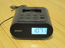 Sony FM Clock Radio for iPod iPhone 30 Pin Charging Dock ICF-C05iP Tested - $13.99