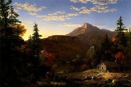The Hunter's Return American Landscape 1845 Painting By Thomas Cole Repro - $10.96+