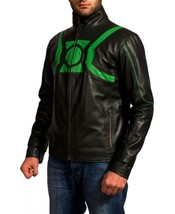 Green Lantern Celeb Style Replica Men Leather Jacket