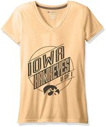 Champion NCAA Iowa Hawkeyes Women's Poly+ V-Neck T-Shirt, Gold, X-Small - $19.95