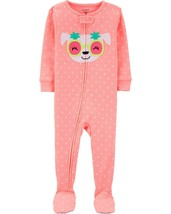 Carter's Baby Girls' 1-Piece Snug Fit Cotton Pajamas (2T, Neon Orange/Dog) - $17.26