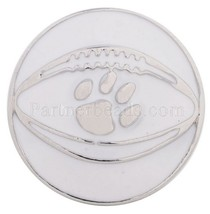 White Silver Football Paw Sport 20mm Snap Charm For Ginger Snaps Jewelry - $6.19