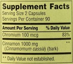 Spring Valley - Cinnamon 500 mg Plus Chromium, 180 Capsules - $12.34