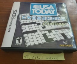 Nintendo DS, 2008 USA Today Crossword Challenge w/manual, case & Game  - $7.92