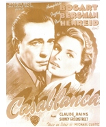 Casablanca Humphrey Bogart WB Vintage 8X10 Sepia Movie Promo Memorabilia... - $4.99