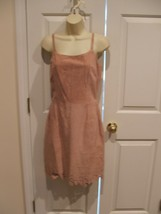 NWT newport news FAWN 100% suede fully lined  dress size 6 - $96.52