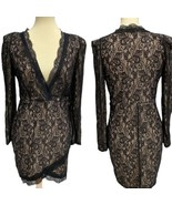 Xtaren women's casual mini dress laces long sleeve size L - $19.79