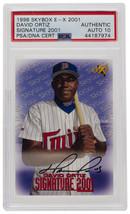 David Ortiz Signed 1998 Skybox Minnesota Twins Card PSA/DNA Auto 10 - $640.52