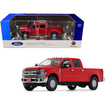 Ford F-250 Crew Cab Super Duty Pickup Truck Race Red 1/50 Diecast Model Car b... - $67.86