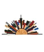 Mid Century Zen Twilight Sunburst Wall Sculpture, colorful Wood Wall Art... - $494.99