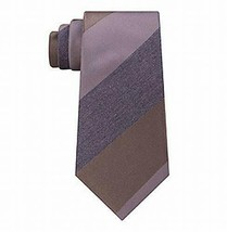 Kenneth Cole Reaction Mens Highland Silk Striped Neck Tie Taupe O/S - $9.45